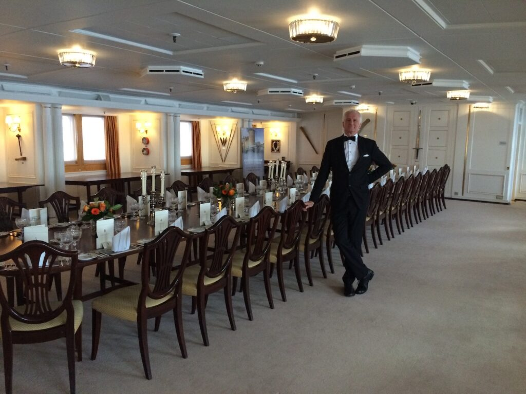 Andrew at Royal Yacht Britannia